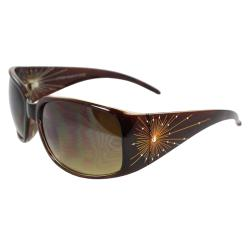 Women's Brown Square Sunglasses