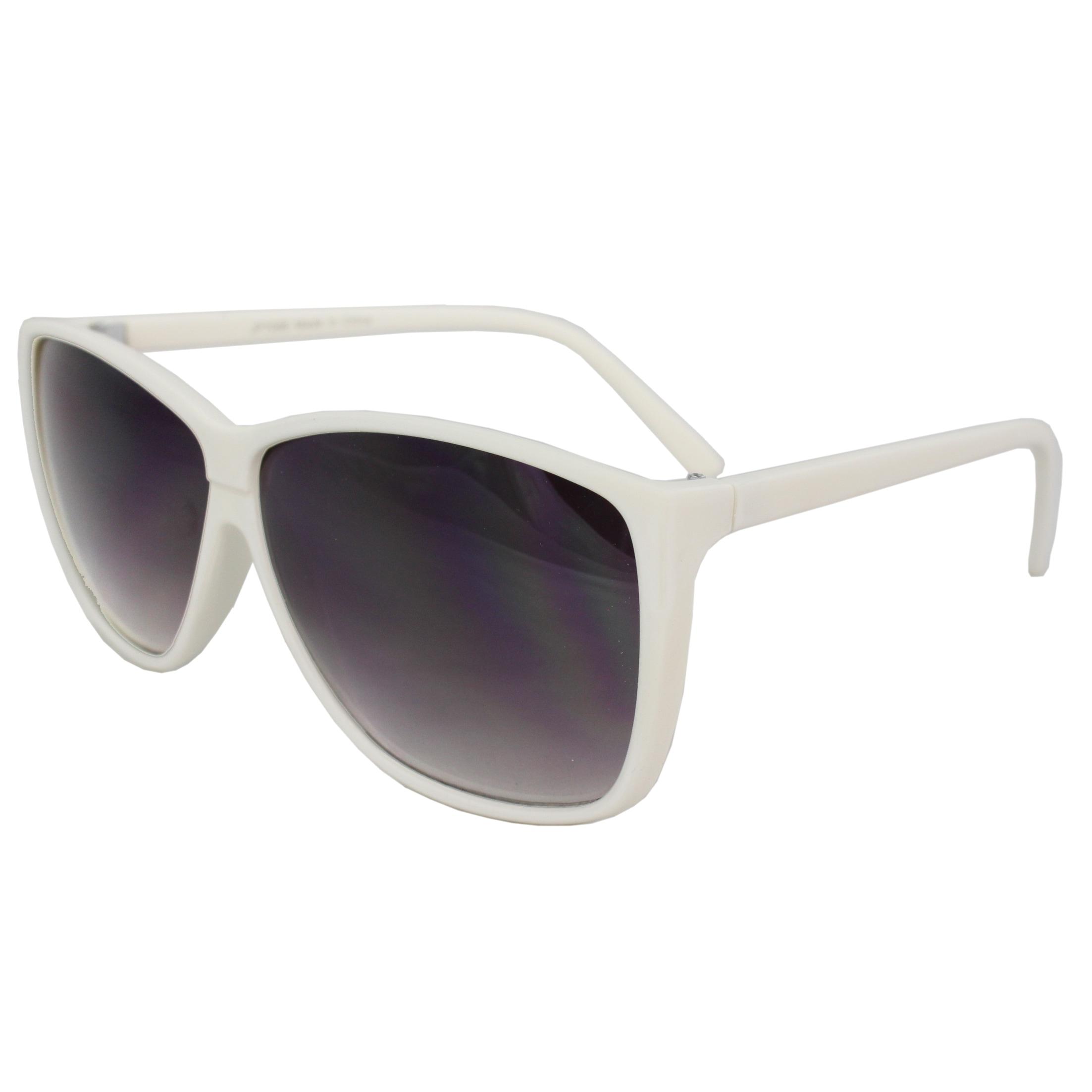 Women's White Square Fashion Sunglasses