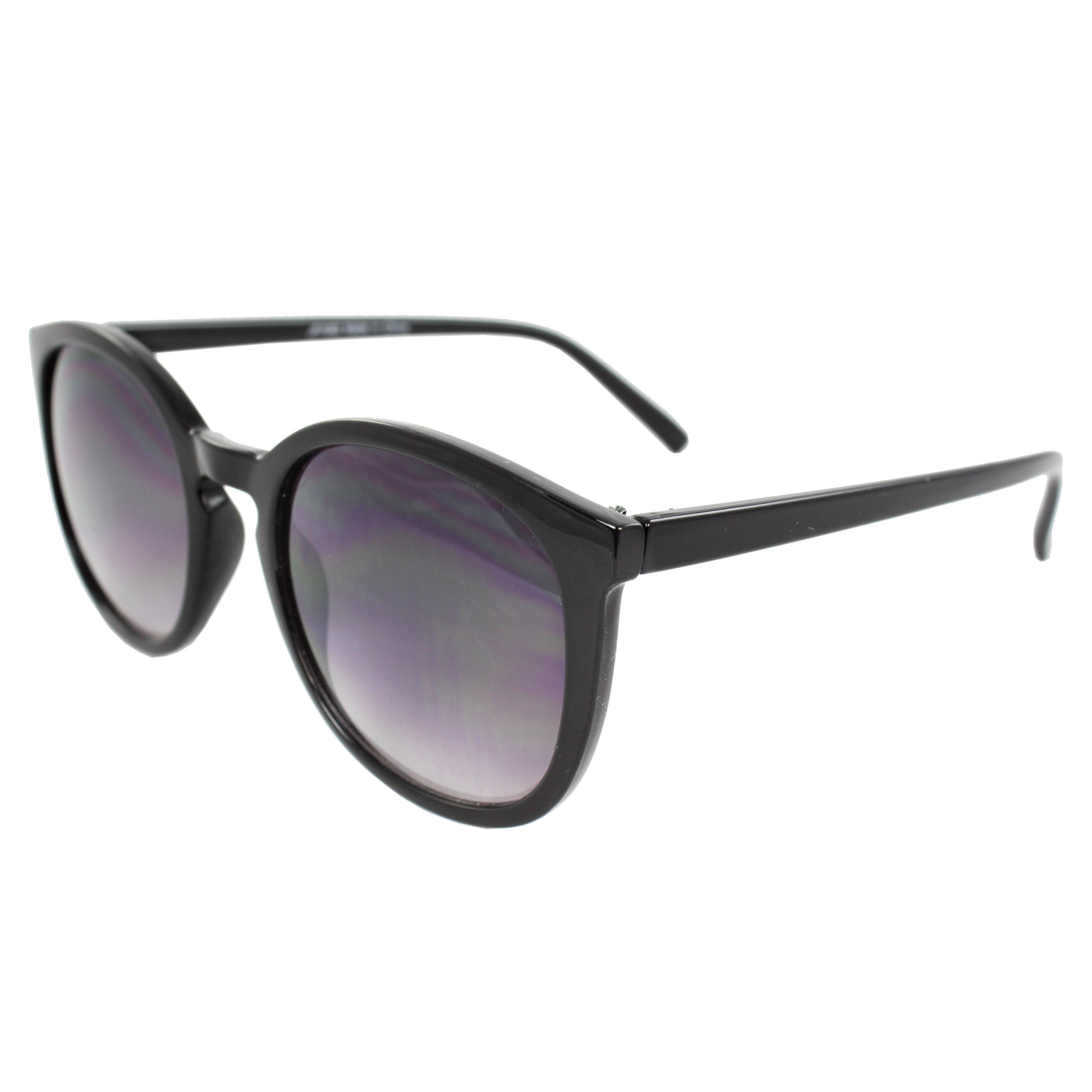 Women's Black Oval Fashion Sunglasses