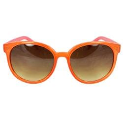 Women's Orange/ Pink Oval Fashion Sunglasses