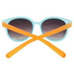 Women's Blue/ Orange Oval Fashion Sunglasses