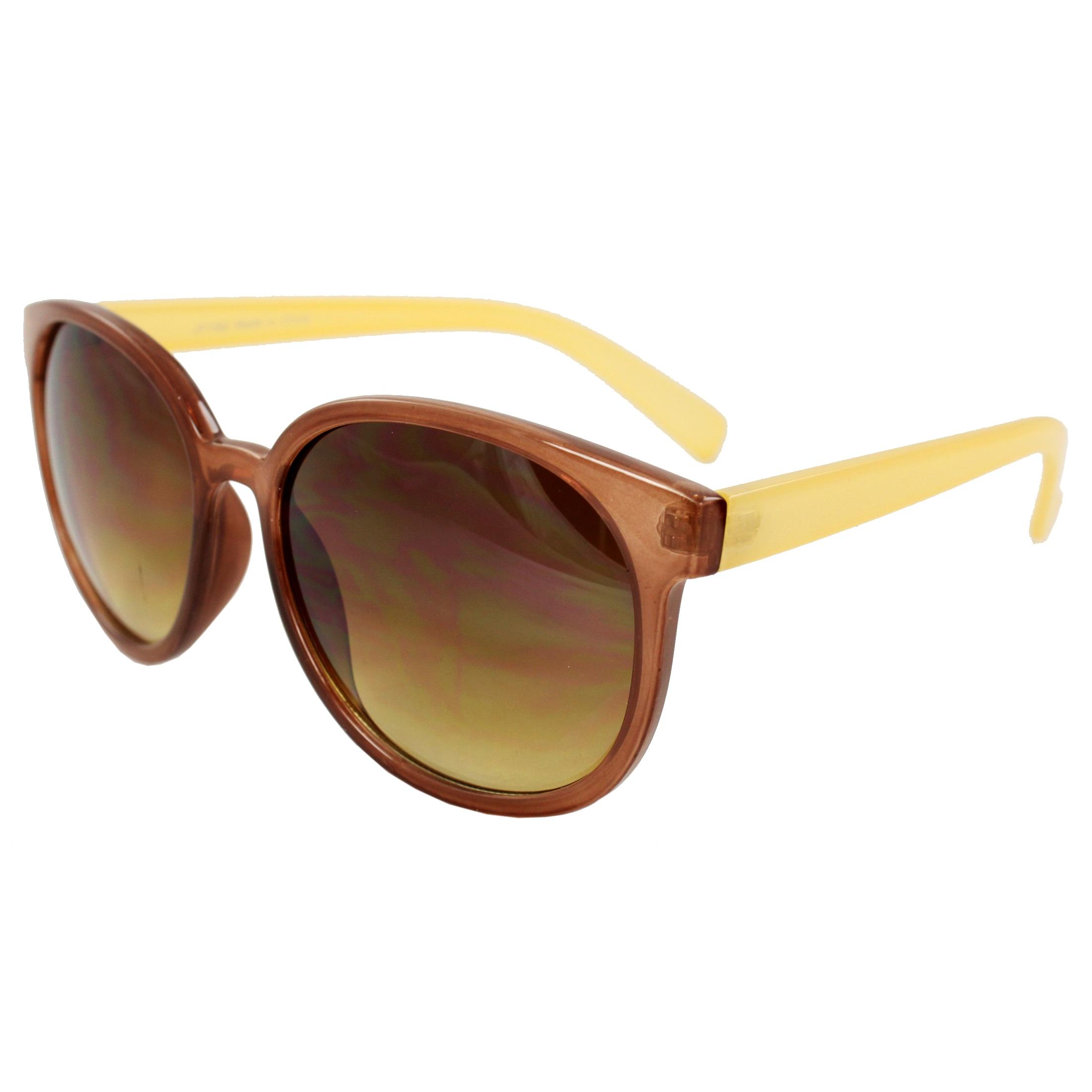 Unisex Two-Tone Oval Fashion Sunglasses