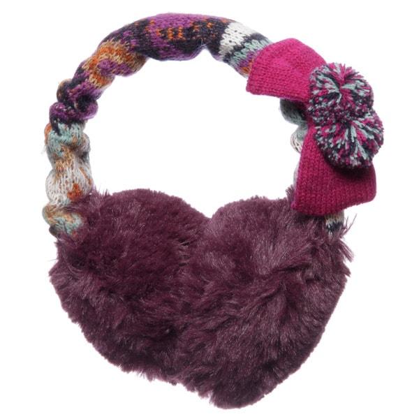 Muk Luks Girl's Boho Faux Fur Earmuffs