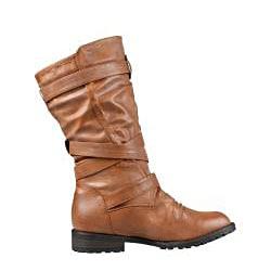 Wild Diva by Beston Women's 'Tina-13A' Mid Calf Combat Boots