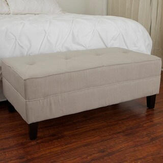 Christopher Knight Home Cheshire Grey Sage Fabric Bench Ottoman