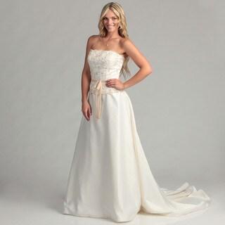 Eden Bridals Women's Ivory Strapless Bridal Dress