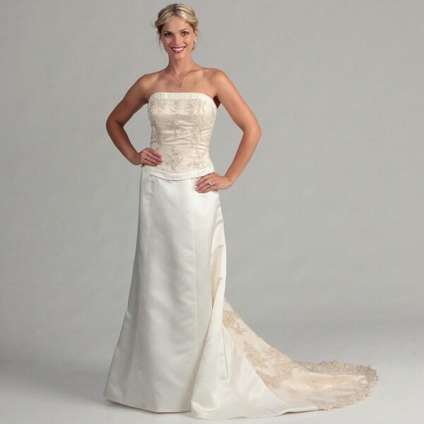 Eden Bridals Women's Blush Strapless Bridal Dress