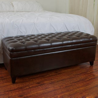 Christopher Knight Home Hastings Espresso Bonded Leather Storage Ottoman