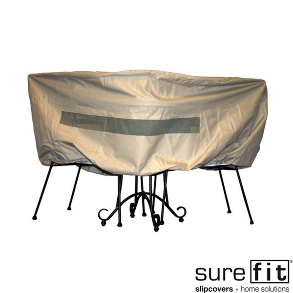 Sure Fit Bistro Table Chair Set Cover Overstock Shopping T