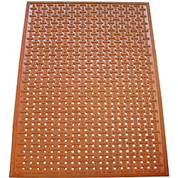 Rubber-Cal Kitchen Mat 100-percent Nitrile Rubber Floor Mat 0.378 Inches Thick 3ft x 5ft Red