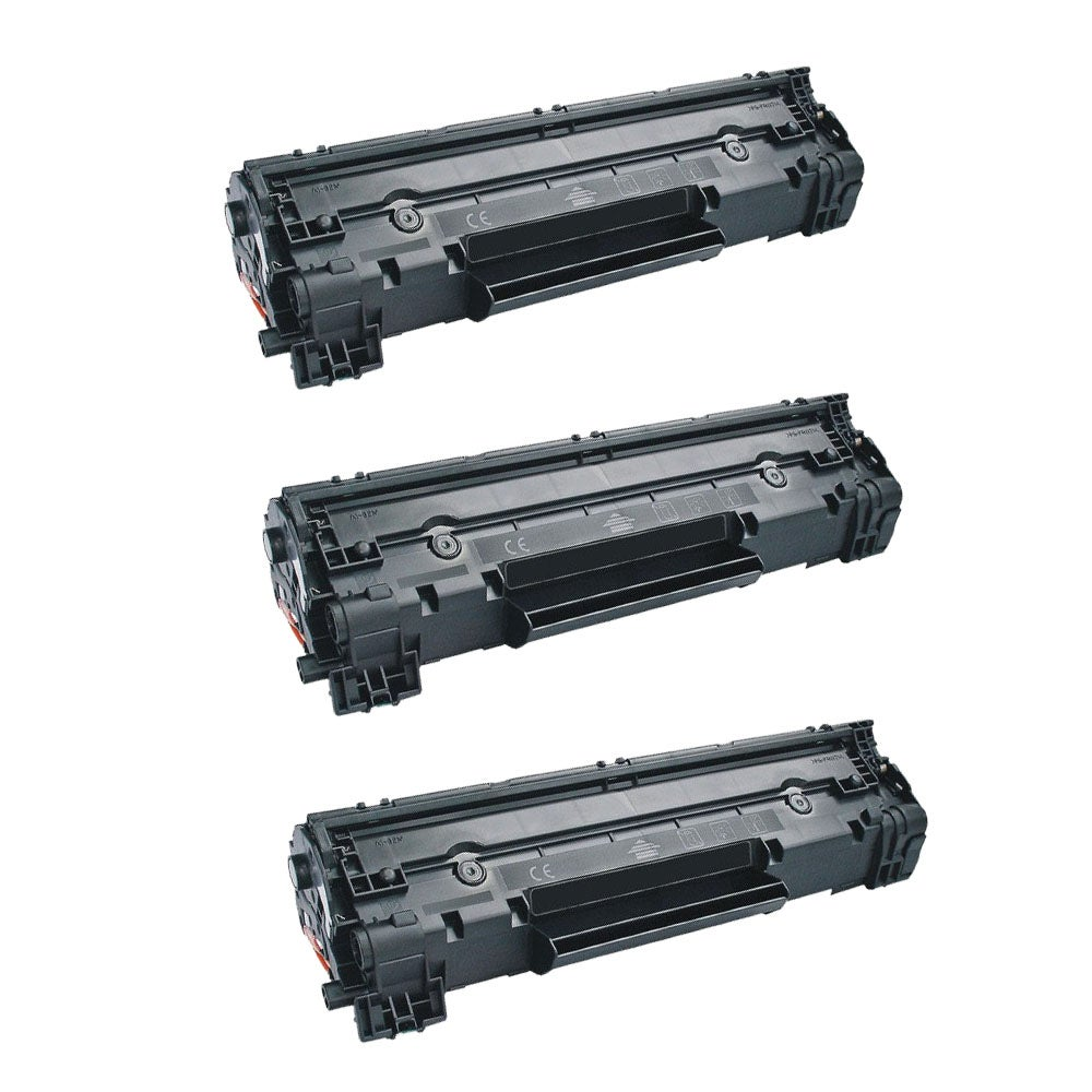 Canon 128 3480B001AA Compatible Black Toner Cartridges (Set of 3)