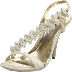Celeste Women's 'Miu-02' Champagne Ankle-Strap Sandal