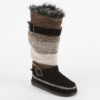 Muk Luks 'Janie' Knit Boot with Buckles