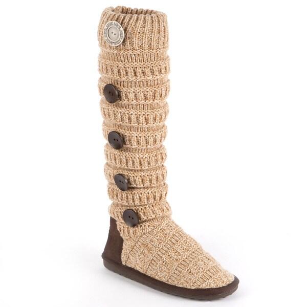 Mid-Calf Muk Luks 'Miranda' Marled Texture Stripe Boot