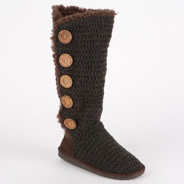 Muk Luks Malena Crochet Button Up Boot