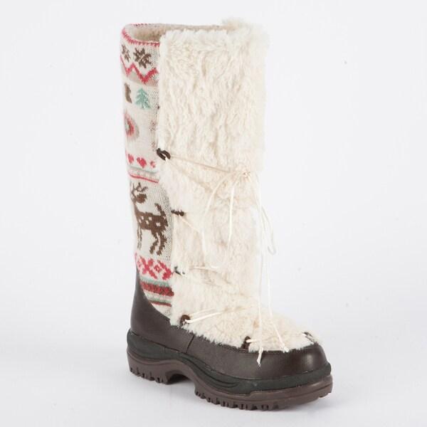 Muk Luks Sesu Retro Nordic Tall Snow Boot