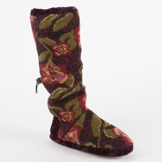 Muk Luks Tina Secret Garden Toggle Slipper Boot in Dream Catcher