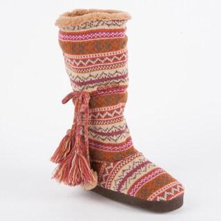 Muk Luks 'Helga' Swiss Fairisle Slipper Boot