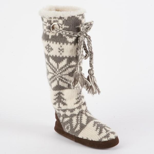 Muk Luks 'Grace' Knit Slipper Boot