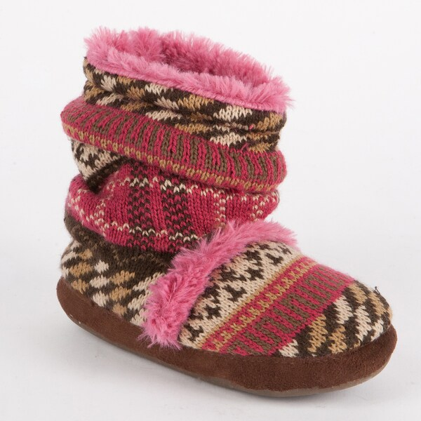 Muk Luks 'Ruthie' Girls' Fur-lined Scrunch Bootie
