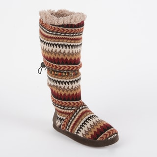 Muk Luks Women's 'Tina' Desert Fairisle Toggle Slipper Boot