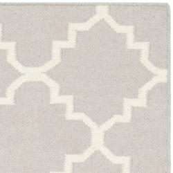 Safavieh Hand-woven Moroccan Reversible Dhurrie Grey/ Ivory Wool Rug (3' x 5')