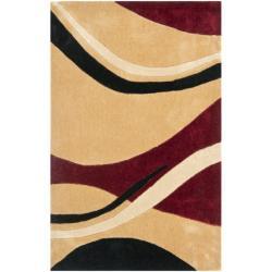 Safavieh Handmade Avant-garde Waves Beige Rug (2'6 x 4')