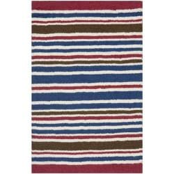Handmade Children's Stripes New Zealand Wool Rug (3' x 5')