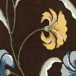 Safavieh Handmade New Zealand Wool Botanical Brown Rug (5'x 8')