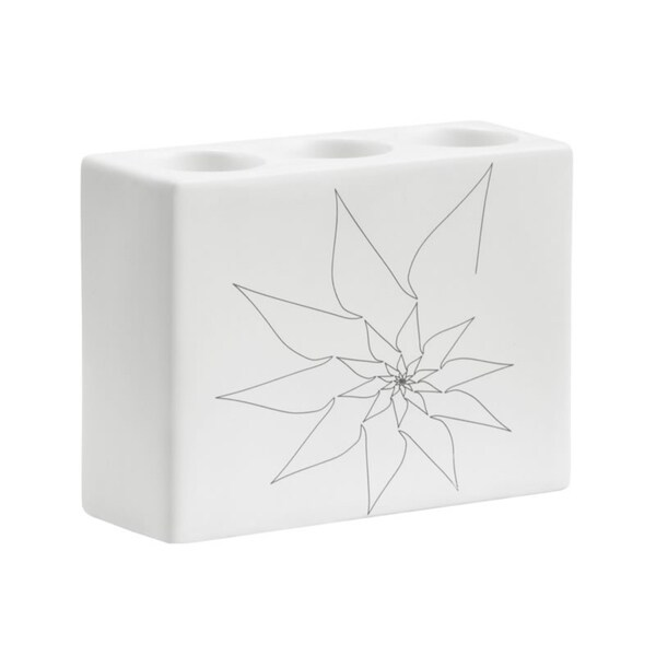 Zuo White Blair Triple Candle Holder (Set of 3)