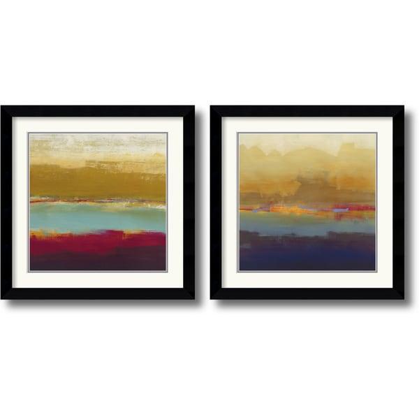 Craig Alan 'Domain Two' 2-piece 27 x 27-inch Framed Art Print