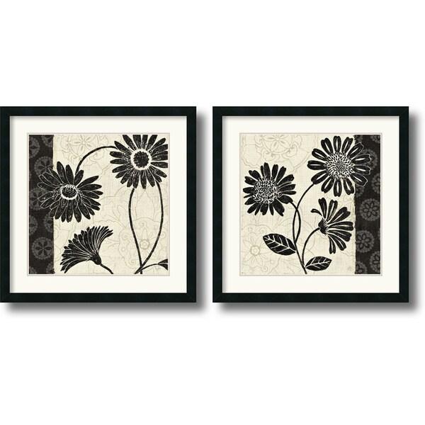 Daphne Brissonnet 'Influence' Large Framed Art Print Set