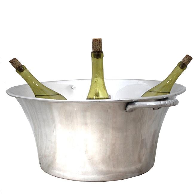 Casa Cortes Round Aluminum Oversized Wine Bucket