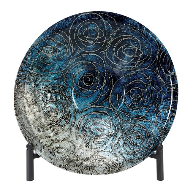 Casa Cortes Serene Blue Glass Decorative Charger Plate  : Casa Cortes Serene Blue Glass Decorative Charger Plate with Stand L14531218 from www.overstock.com size 650 x 650 jpeg 176kB