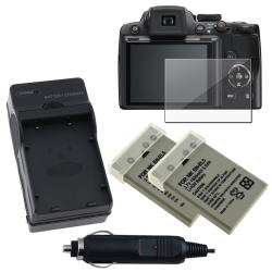 Battery/ Charger Set/ LCD Protector for CP1 EN-EL5/ Nikon Coolpix P500