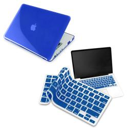 Clear Dark Blue Case/ Blue Keyboard Skin for Apple MacBook Pro 13-inch
