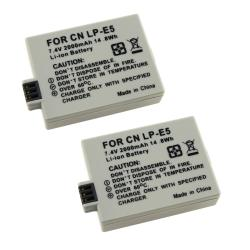 Battery for Canon LP-E3/ EOS Digital Rebel Xsi/ Xs (Pack of 2)