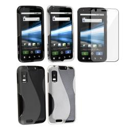 Black TPU/ White TPU Case/ Protector for Motorola Atrix 4G MB860