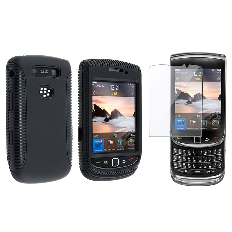 INSTEN Hybrid Phone Case Cover/ Screen Protector for BlackBerry Torch 9800/ 9810