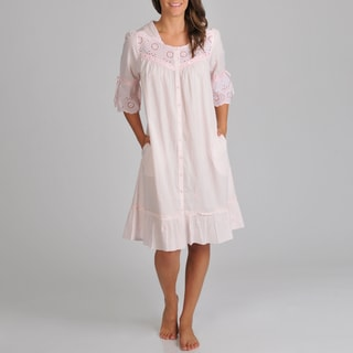La Cera Women's Eyelet Trim Cover-Up