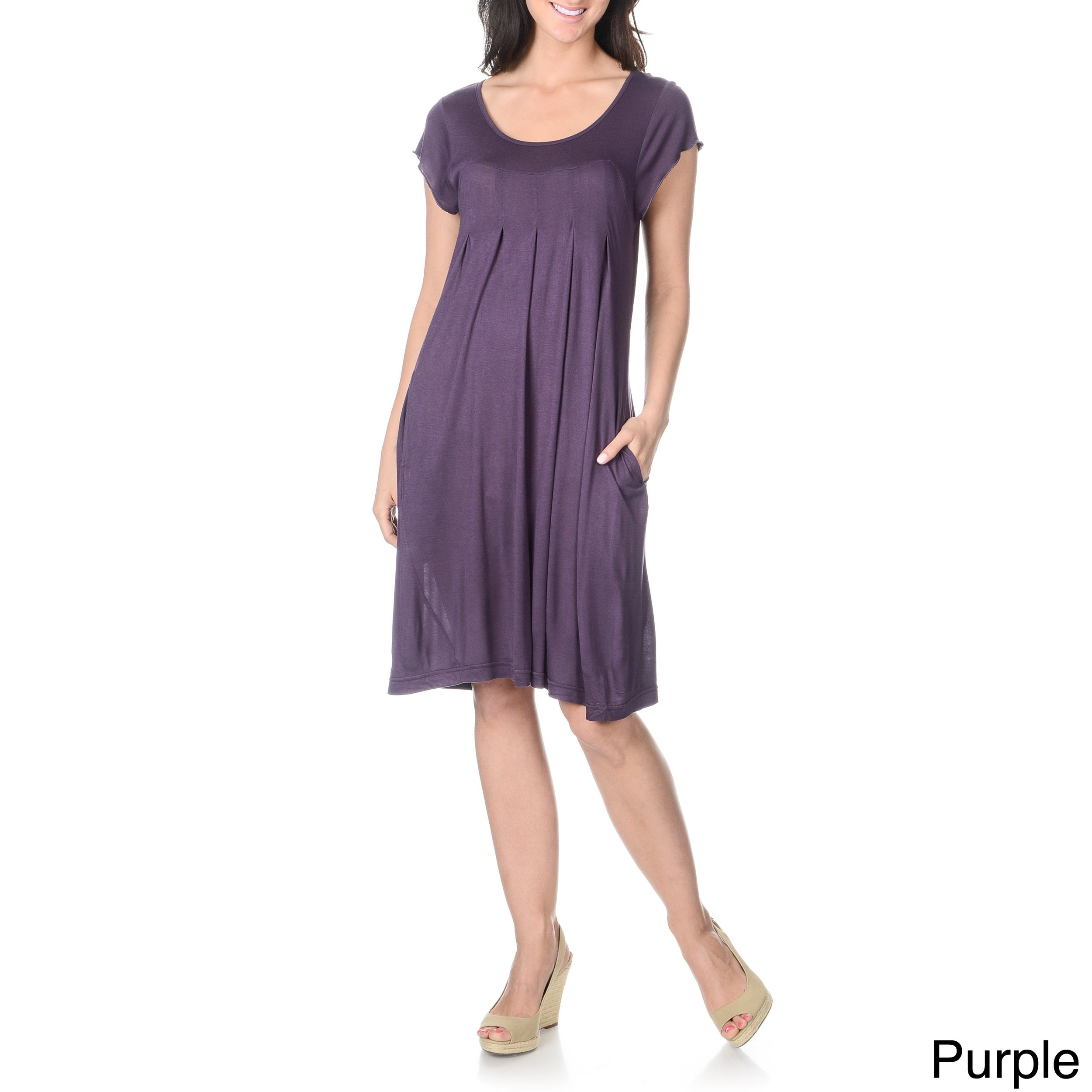 Awesome 92% Polyester, 8% Spandex Stretchy, Jersey Knit Fabric Lace Panel Down The Front Of The Bust With A Small Keyhole At The Top Elasticized Waist Dress Is Unlined And Length Is Several Inches Above The Knee Brand New With Jon &amp Anna Tags!