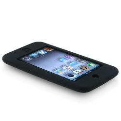 Black Silicone Case/ Protector for Apple iPod Touch Generation 1/ 2/ 3