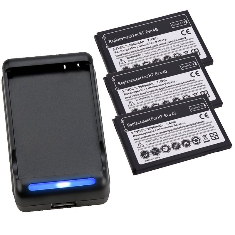 INSTEN Battery/ Charger for Sprint HTC EVO 4G