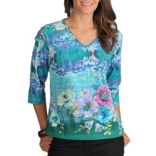 La Cera Women's Knit Top
