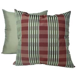 Sigourney Stripe Cranberry Decorative Pillows (Set of 2)