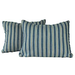 Royal Stripe Chambray Throw Pillows (Set of 2)