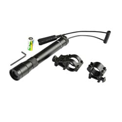 Black Aluminum Long Distance Night Vision Green Laser Sight (10X)