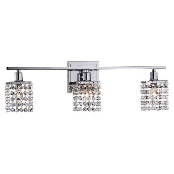 3-light Chrome/ Crystal Square Shade Wall Sconce - 14531520 - Overstock.com Shopping - Top Rated ...