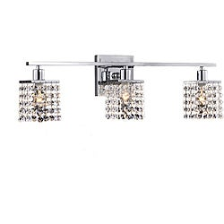Otis Designs 3-Light Chrome/ Crystal Square Shade Wall Sconce