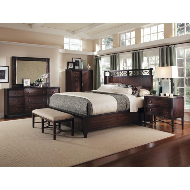 Intrigue Shelter King Bedroom Set (4 Pieces in Set)